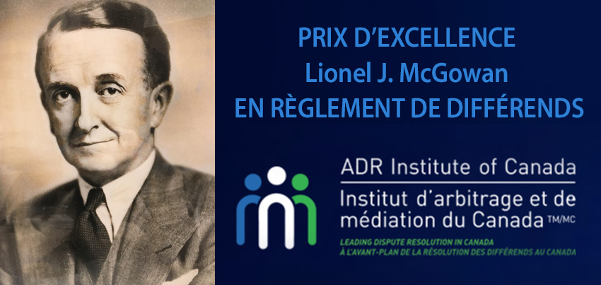 Lauréat du Prix national McGowan 2020